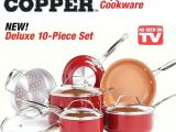 Copper Pan as Seen On Tv Reviews as Seen On Tv Copper Pan Red 4 Square Deep Dish Ceramic 5