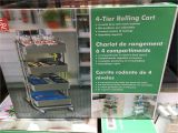 Costco 4 Tier Rolling Cart Best Closetmaid Rolling Cart Roselawnlutheran