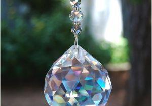 Crystal Suncatchers for Windows Prism Crystal Suncatcher Window Decoration by Jgbeadedjewelry