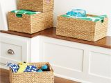 Cube Storage Bins 13x15x13 Decorative Baskets Wicker Baskets Storage Bins the Container Store
