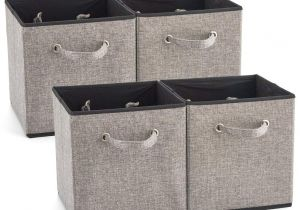 Cube Storage Bins 13x15x13 Ezoware 4 Pack Fabric Foldable Cubes Bin organizer Container with
