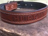 Custom Hand tooled Leather Dog Collars Leather Dog Collar Hand tooled Personalized with Dog 39 S