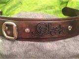Custom tooled Leather Dog Collars Personalized Hand tooled Leather Dog Collar