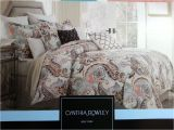 Cynthia Rowley Bedding Duvet Set Paisley King Comforter Sets Size Duvet Covers Blue Luxury
