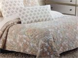 Cynthia Rowley Quilt Set Cynthia Rowley Coral Paisley Floral Full Queen Quilt Set