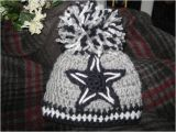 Dallas Cowboys Colors Yarn Crochet Beanie Baby Hat Dallas Cowboy Colors Navy Grey and