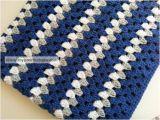 Dallas Cowboys Colors Yarn Large Crochet Baby Blanket In Dallas Cowboy Colors