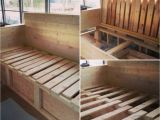 Daybed Converts to Queen Australia Couch Storage and and Pull Out Bed Skoolie Skoolieconversion Diy