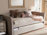 Daybed that Turns Into A Queen Bed Baxton Studio Serena Daybed with Trundle Kiley Anne Daybed Bed
