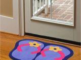 Daystar Carpet Cleaning Panama City Fl Cartoon originality Slipper Flower Pattern Non Slip Doormat Blue Red