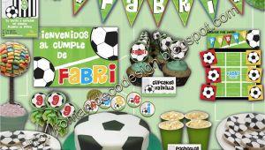 Decoracion Para Cumpleaños Tematica Futbol todo Personalizado Golosinas Candy Bar Etiquetas souvenirs