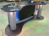 Desk and Tv Stand Set Wide Angle News Desk