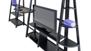 Desk and Tv Stand Set Winsome Adam 4pc Writing Desk Corner Shelf and Tv Stand