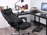 Desk Chair with Leg Rest Gaming Swivel Chair with Foldable Headrest Office Chair
