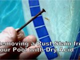 Diamond Brite Pool Finish Problems Removing Rust Stains From Your Pool Youtube
