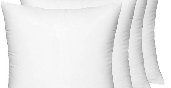 Different Types Of Pillow Stuffing Amazon Com Hippih 4 Pack Pillow Insert 18 X 18 Inch