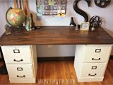Diy 2 Drawer File Cabinet Desk Pottery Barn Inspired Desk Using Goodwill Filing Cabinets In 2019