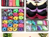 Diy Bra and Underwear Drawer organizer 4pcs Closet Underwear organizer Non Woven Bra Underwear socks Drawer