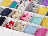 Diy Bra and Underwear Drawer organizer 6pcs Set Adjustable Wardrobe Drawer Divider Storage Clapboard for