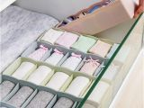 Diy Bra and Underwear Drawer organizer Practical 5grid Tie Bra Underwear socks Drawer Storage Box Jewelry