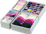 Diy Bra and Underwear Drawer organizer Simplehouseware Closet Underwear organizer Drawer Divider 4 Set