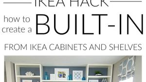 Diy Built In Entertainment Center Plans Diy Built In Using Ikea Cabinets and Shelves Blogger Home Projects