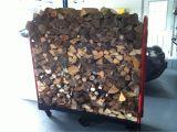 Diy Indoor Firewood Rack Movable Firewood Storage Fires Pinterest Firewood Storage