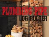 Diy Indoor Firewood Storage Rack Plumbing Pipe Firewood Holder My Home Pipe Furniture Firewood