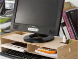 Diy Monitor Stand Wood 2019 Diy Desktop Computer Monitor Riser Stand Desktop Wooden Monitor