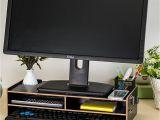 Diy Monitor Stand Wood Groa Handel Diy Desktop Computer Monitor Riser Stand Desktop Holz