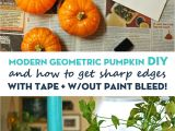 Diy Painting with A Twist at Home Geometric Pumpkin Diy and Painting Trick for Shapes Home Diy