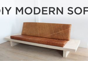 Diy Sectional sofa Frame Plans Diy Modern sofa How to Make A sofa Out Of Plywood Youtube