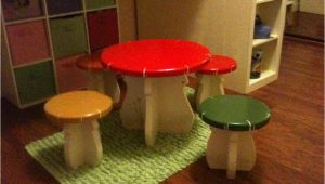Diy toddler Step Stool with Rails Plans Diy Kids Mushroom Table and toad Stools Updated Outdoors Diy