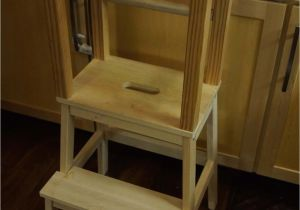 Diy toddler Step Stool with Rails Third and Patterson Diy toddler Learning tower
