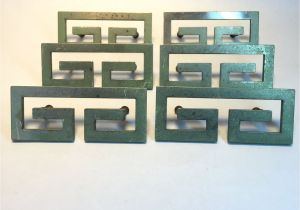 Drop Pulls for Dressers Greek Key Style Drawer Pulls Lot Of 6 Vintage 3 Inch Centers