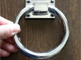 Drop Pulls for Dressers Shiny Silver Circle Handles Stainless Steel Ring Door Handles Pulls