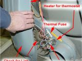 Dryer thermal Fuse bypass Whirlpool Elctric Dryer Diagnostic Chart American Service