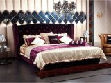 Eastern King Bed Size Vs King Modrest Majestic Transitional Purple Fabric Eastern King Size Bed
