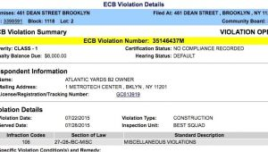 Ecb Violations Penalty forgiveness at B2 Modular tower Unresolved Construction Violations