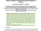 Electronics Recycling Santa Rosa California Pdf Study Of E Waste Hazards Recycling Techniques A Review