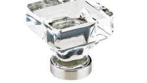 Emtek Crystal Square Cabinet Knobs Emtek 86403 Crystal 1 3 8 Quot Square Cabinet Knob