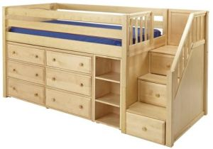 Enclosed Beds for Adults Great 1 Storage Bed with Stairs In Natural by Maxtrix 610