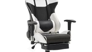 Ergonomic Office Chair with Leg Rest Giantex Ergonomic Adjustable Gaming Chair Modern High Back Racing
