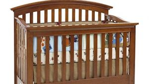 Essentials by Baby Cache Bliss Curved top Crib Baby Cache Bliss Essential Curved top Crib Chestnut top