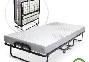 Extra Strong Bed Frame Milliard Diplomat Folding Bed Twin Size with Luxurious Memory Foam