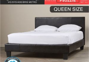 Extra Strong Bed Frame New Bed Frame Queen Size Pu Leather Wooden Slat High Padded Head