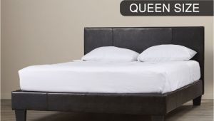 Extra Sturdy King Bed Frame New Bed Frame Queen Size Pu Leather Wooden Slat High Padded Head