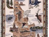 Fabric Stores In Twin Falls Idaho Amazon Com Simply State Of Idaho Tapestry Throw Home Kitchen