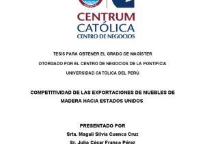 Fabrica De Muebles En Santiago Republica Dominicana Competitividad De Las Exportaciones De Muebles De Madera