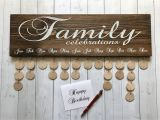 Family Birthday Board Kit Canada Family Celebrations Board with Natural Discs Birthday Etsy